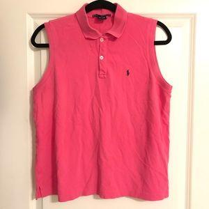 Ralph Lauren Sport collar sleeveless top blouse